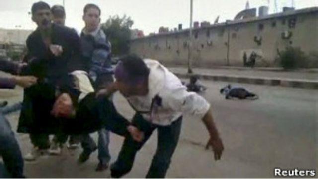 受傷的敘利亞示威者