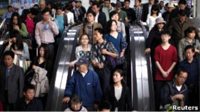 中國地鐵人群