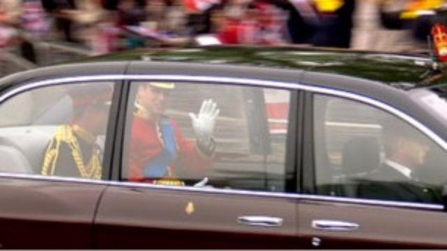 威廉王子前往西敏寺教堂