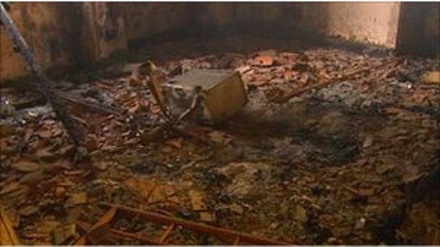 被燒燬的英國駐利比亞大使館