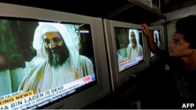 Bin Laden en la TV