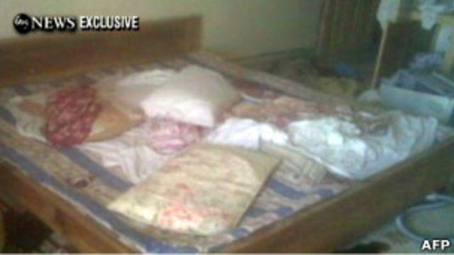 Спальня в доме, где был убит бин Ладен