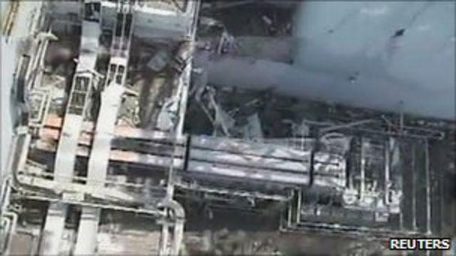 東京電力發放福島第一核電站一號機組北側的損毀情況航拍(21/4/2011)