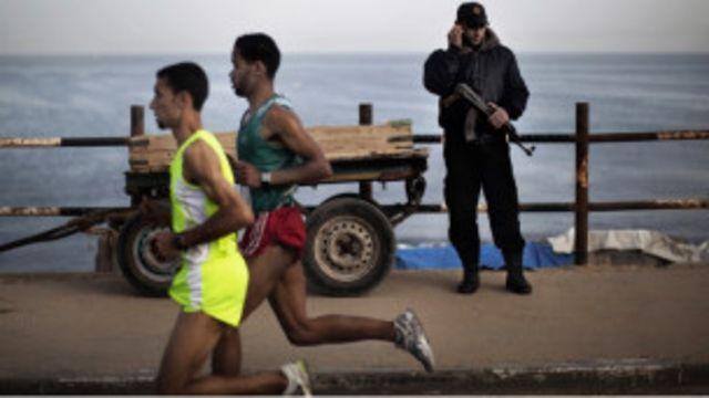 Atlet berlatih di Gaza