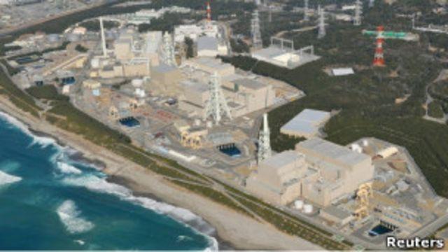 靜岡縣濱岡核電站鳥瞰(2011年5月6日路透社圖片)