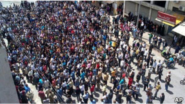 敘利亞示威者