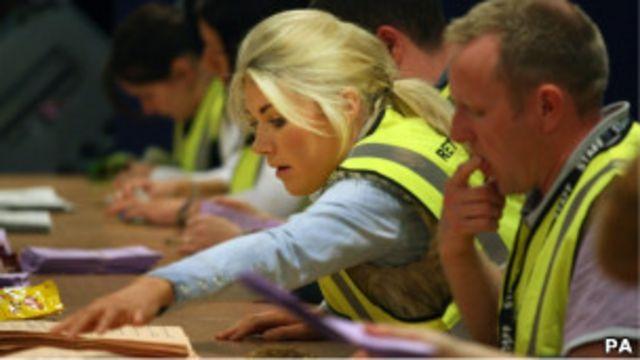 蘇格蘭哈丁頓地方選舉點票現場(5/5/2011)