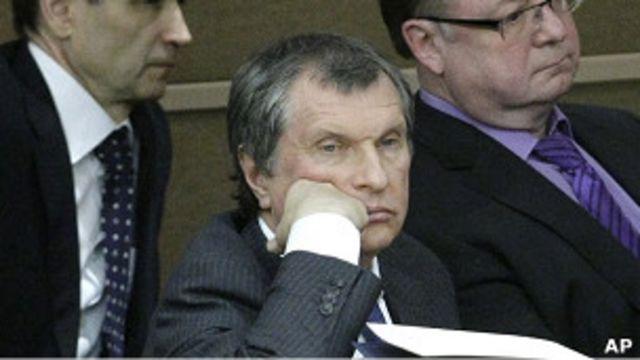 Hombre aburrido en Rusia. Foto de archivo