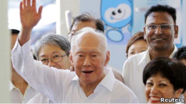 李光耀在大選中