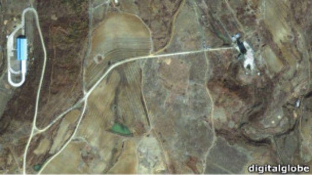 朝鮮東海岸的大浦洞導彈發射基地