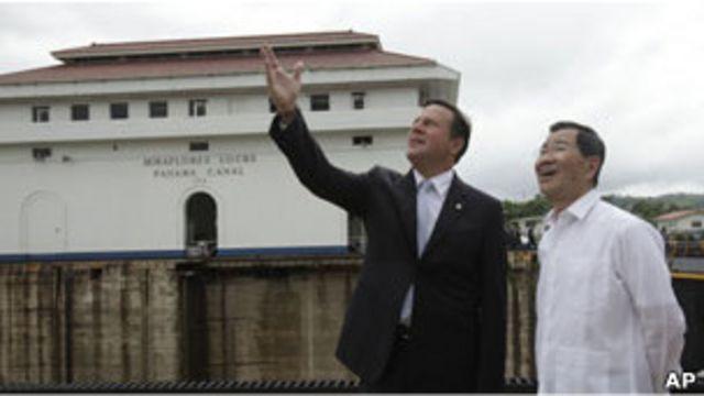 台灣副總統蕭萬長與巴拿馬外長巴雷拉(16/05/2011)