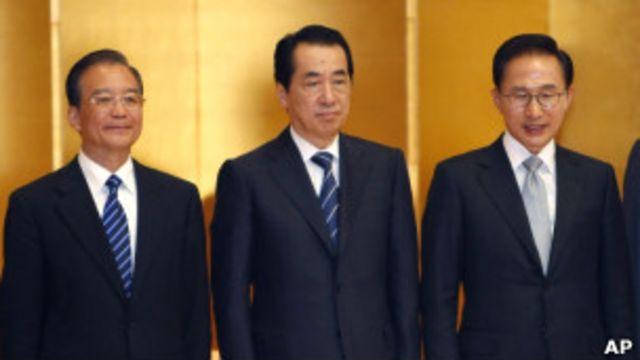 左起:溫家寶、菅直人、李明博