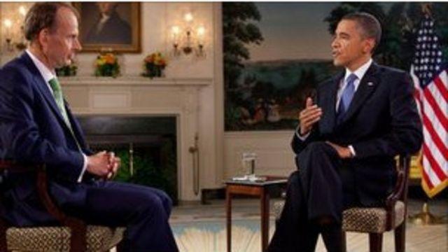 奧巴馬和BBC記者安德魯·馬爾