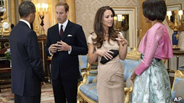 奧巴馬夫婦與威廉王子夫婦