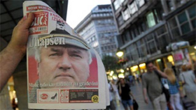 塞爾維亞報章報道姆拉迪奇被捕