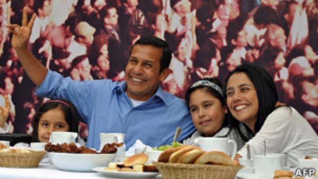 Ollanta Humala con su familia
