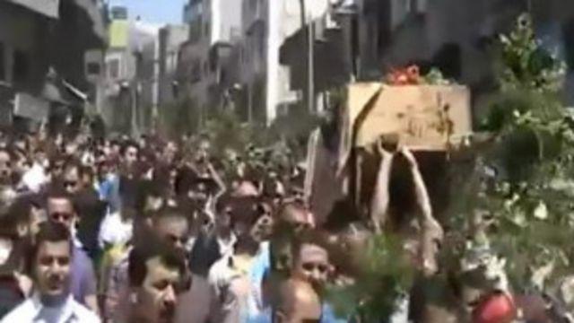 Демонстрация в Джиср эш-Шугуре