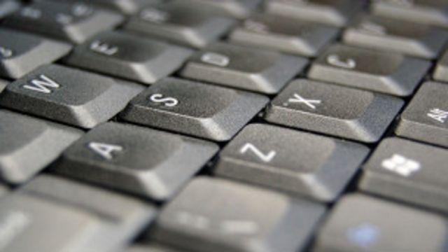 Teclado de computadora portátil