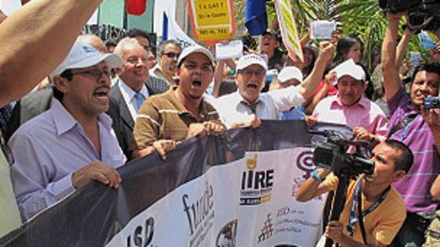 protestas en el salvador