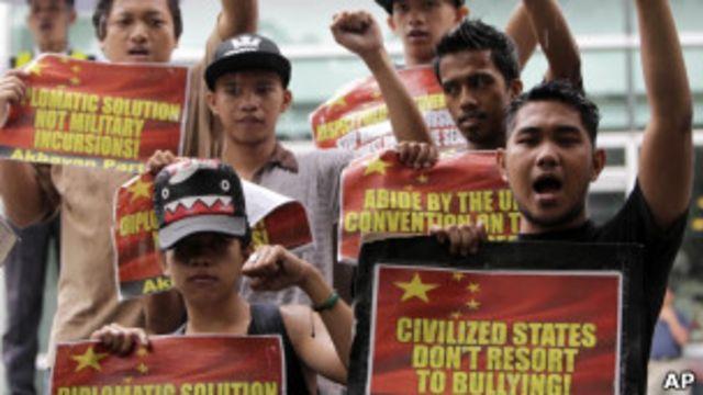 馬尼拉示威者抗議中國侵犯菲律賓領海主權(08/06/2011)