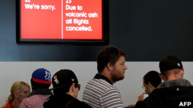 Pantalla informativa en el aeropuerto de Perth