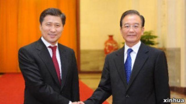 中國國務院總理溫家寶與蒙古國總理巴特包勒德