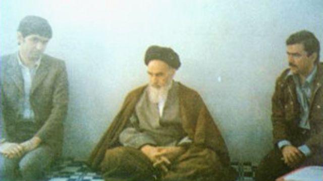 دیدار مسعود رجوی و موسی خیابانی با آیت الله خمینی