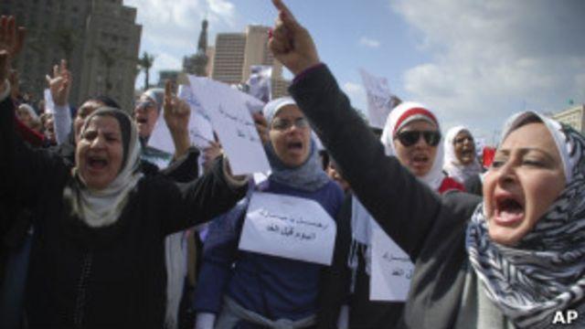 متظاهرات مصريات