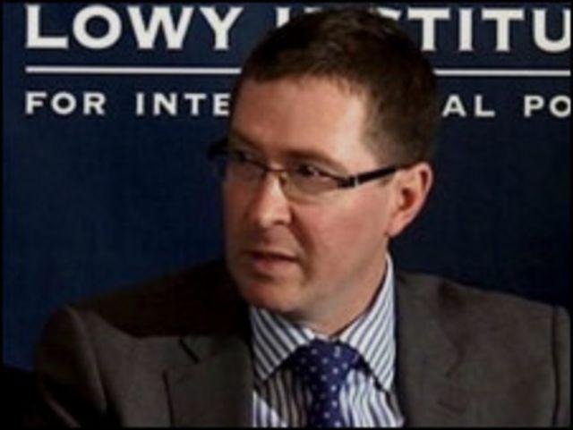 Tiến sĩ Rory Medcalf từ Viện Lowy danh tiếng của Úc là đồng tác giả báo cáo về Biển Đông