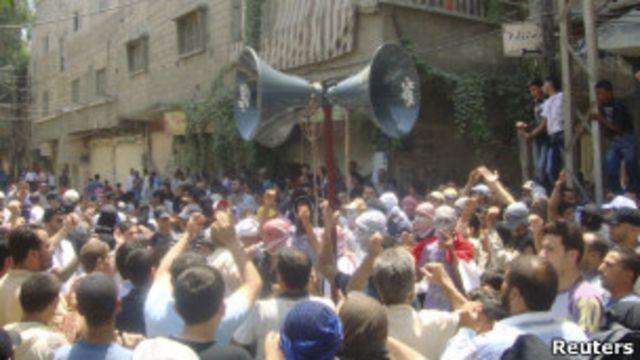 مظاهرة في دمشق