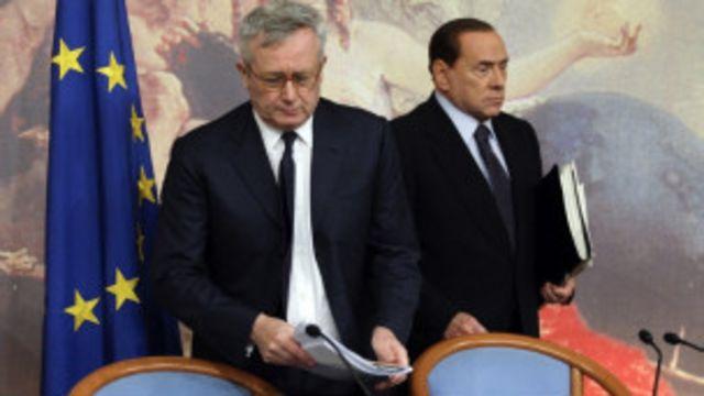意大利總統貝盧斯科尼和財政部長特雷蒙蒂
