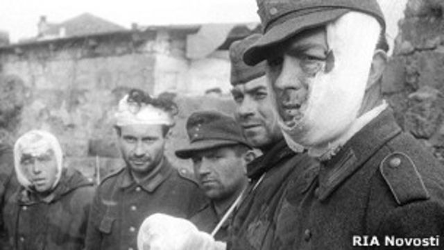 немецкие военнопленные в 1943 году