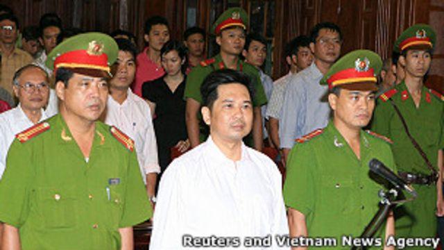 Ông Cù Huy Hà Vũ tại phiên tòa phúc thẩm hôm 2/8