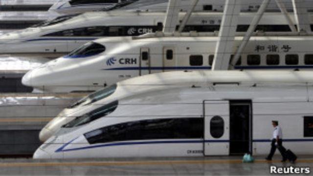 北京南站的CRH380BL型動車組