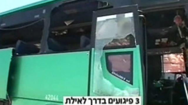 以色列電視播出遇襲的巴士畫面