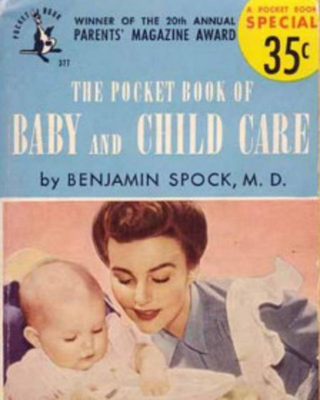 "The first edition of Dr. Benjamin Spock's ""Common Sense Book of Baby and Child Care"""