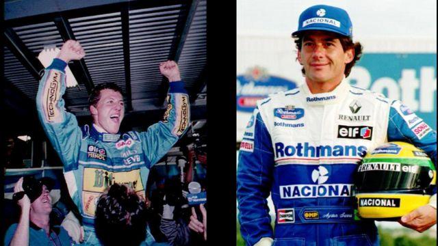 Michael Schumacher y Ayrton Senna