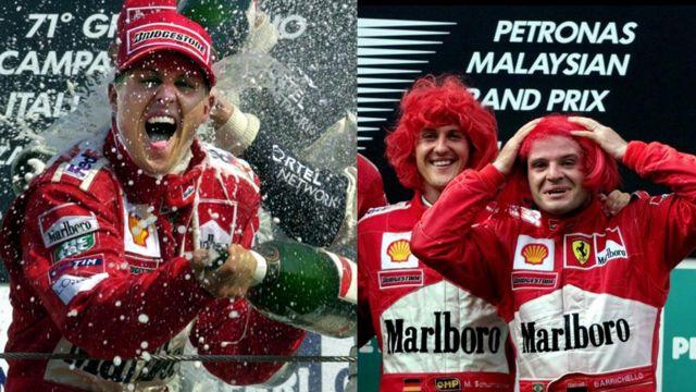 Michael Schumacher y Häkkinen