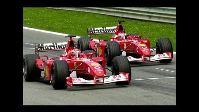 Schumacher en su automóvil