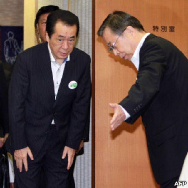日本首相菅直人會見福島縣知事佐藤雄平(27/8/2011)