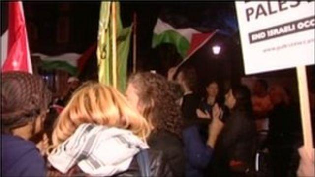 اعتراض علیه اسرائیل در کنسرت بی بی سی