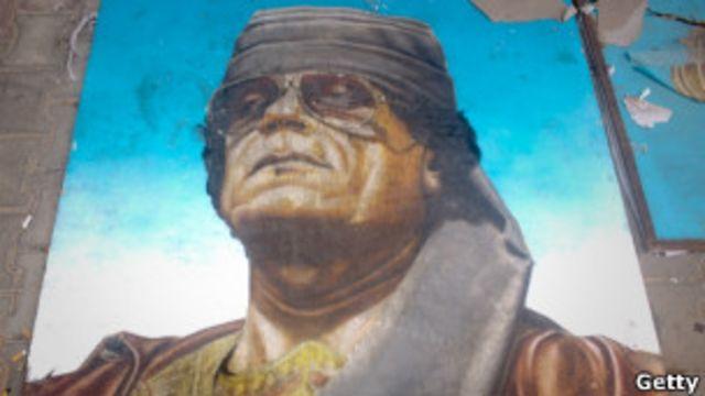 Портрет Муаммара Каддафи