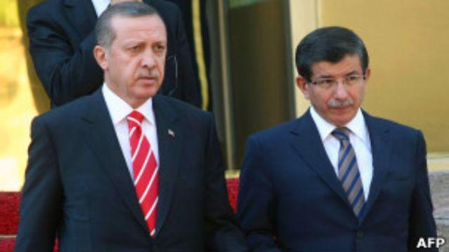 Davutoglu y Erdogan