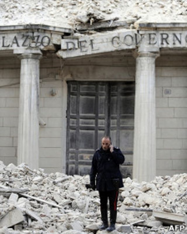 La localidad de L'Aquila quedó devastada.