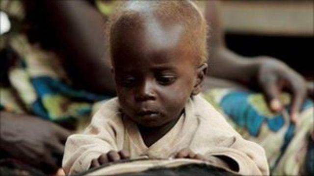Ugandalı bir çocuk