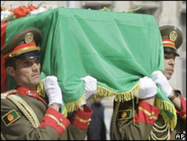 Jana'izar tsohon shugaban Afghanistan