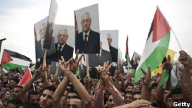 巴勒斯坦民眾歡迎阿巴斯