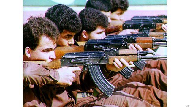 Soldados voluntarios jordanos