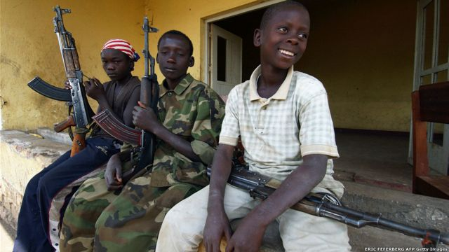 Niños soldados de la Unión de Patriotas Congolesa (UPC)