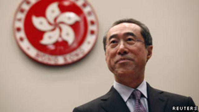 香港政務司長唐英年宣佈辭職(28/09/2011)
